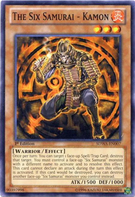YuGiOh Trading Card Game Samurai Warlords Structure Deck Common The Six Samurai - Kamon SDWA-EN007