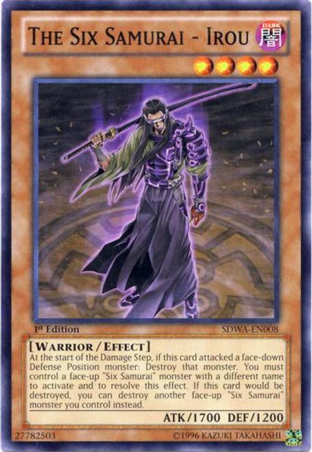 YuGiOh Trading Card Game Samurai Warlords Structure Deck Common The Six Samurai - Irou SDWA-EN008