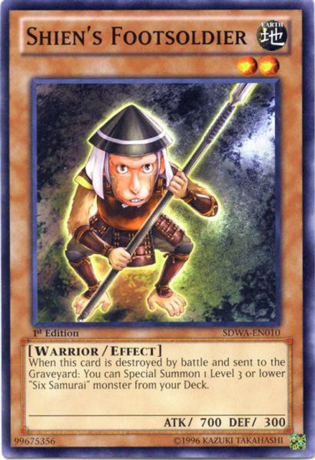 YuGiOh Trading Card Game Samurai Warlords Structure Deck Common Shien's Footsoldier SDWA-EN010