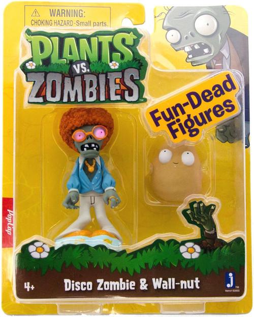 Plants vs. Zombies Fun-Dead Figures Disco Zombie & Wallnut 3-Inch Figure 2-Pack