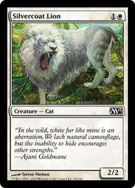 MtG 2013 Core Set Common Silvercoat Lion #35