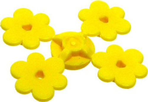 LEGO Plants Sprue of Four Yellow Flowers [Loose]