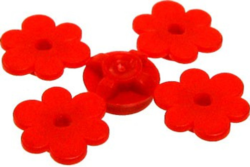 LEGO Plants Sprue of Four Red Flowers [Loose]
