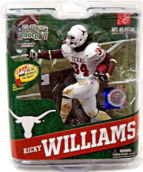 McFarlane Toys NCAA College Football Sports Picks Series 4 Ricky Williams Action Figure [White Jersey]