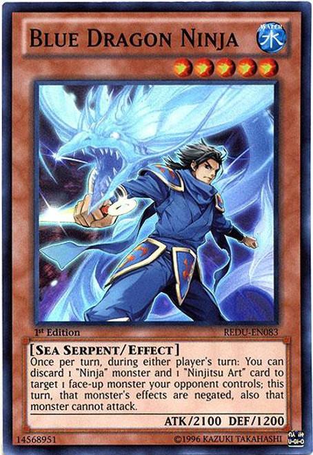 YuGiOh Trading Card Game Return of the Duelist Super Rare Blue Dragon Ninja REDU-EN083