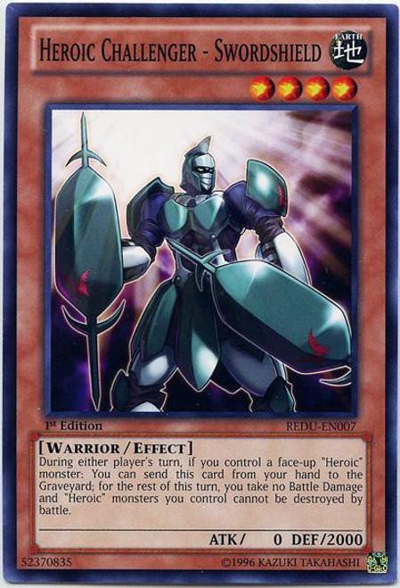 YuGiOh Trading Card Game Return of the Duelist Common Heroic Challenger - Swordshield REDU-EN007