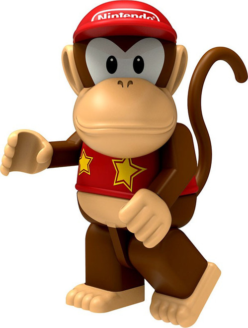 K'NEX Super Mario Diddy Kong 2-Inch Minifigure [Loose]