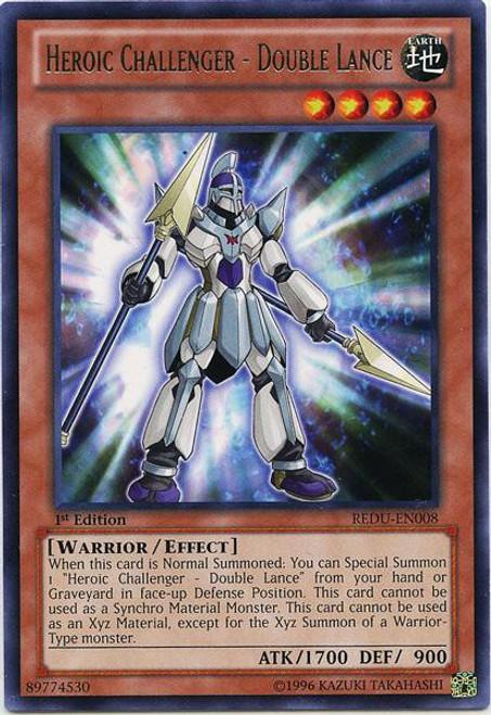 YuGiOh Trading Card Game Return of the Duelist Rare Heroic Challenger - Double Lance REDU-EN008