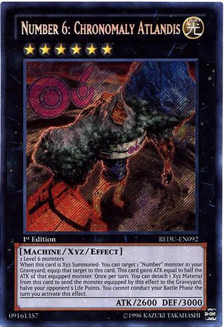 YuGiOh Trading Card Game Return of the Duelist Secret Rare Number 6: Chronomaly Atlandis REDU-EN092
