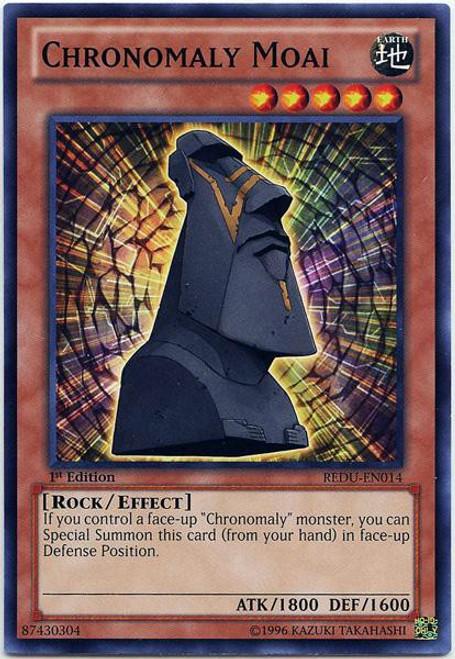 YuGiOh Trading Card Game Return of the Duelist Common Chronomaly Moai REDU-EN014