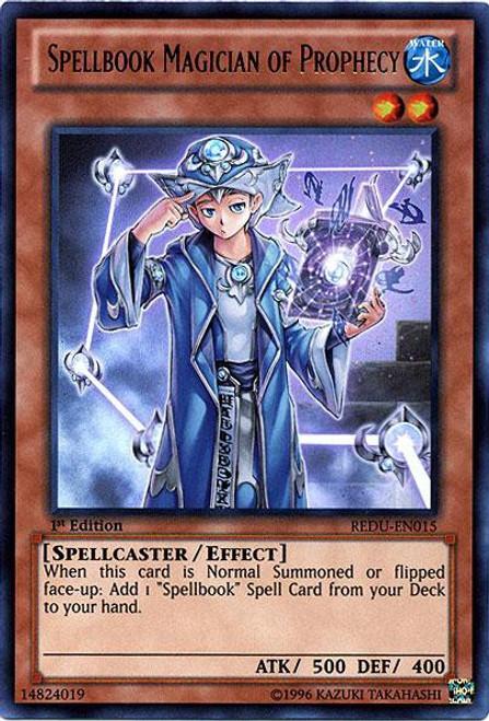 YuGiOh Trading Card Game Return of the Duelist Ultra Rare Spellbook Magician of Prophecy REDU-EN015