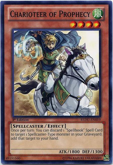 YuGiOh Trading Card Game Return of the Duelist Common Charioteer of Prophecy REDU-EN019