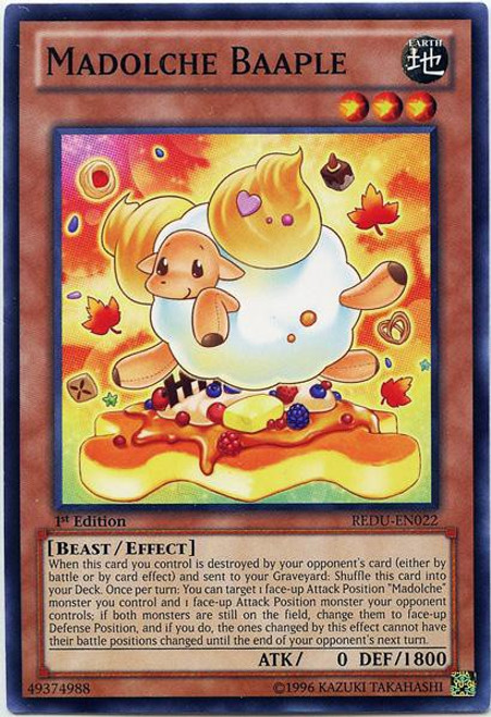 YuGiOh Trading Card Game Return of the Duelist Common Madolche Baaple REDU-EN022