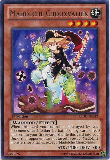 YuGiOh Trading Card Game Return of the Duelist Rare Madolche Chouxvalier REDU-EN023