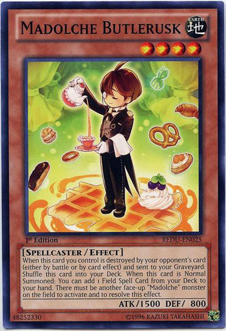 YuGiOh Trading Card Game Return of the Duelist Common Madolche Butlerusk REDU-EN025