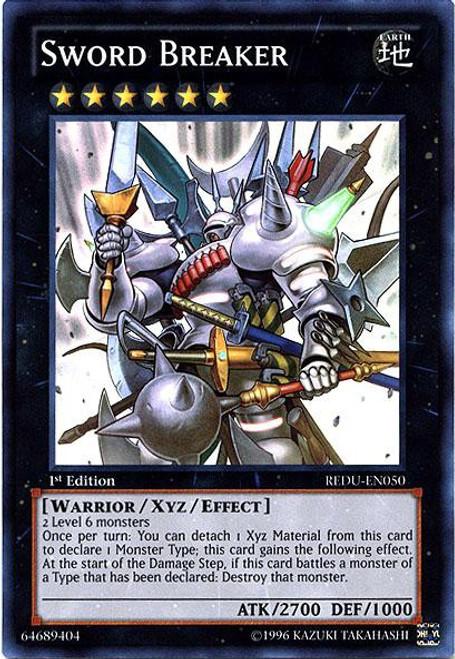 YuGiOh Trading Card Game Return of the Duelist Super Rare Sword Breaker REDU-EN050