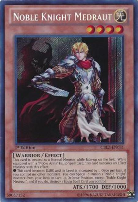 YuGiOh Trading Card Game Cosmo Blazer Secret Rare Noble Knight Medraut CBLZ-EN081