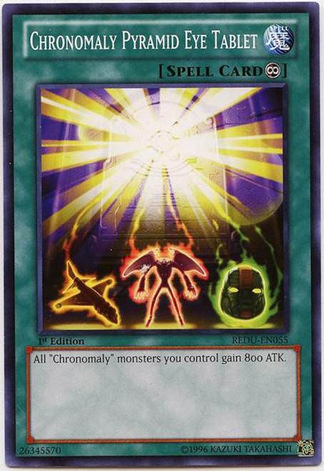 YuGiOh Trading Card Game Return of the Duelist Common Chronomaly Pyramid Eye Tablet REDU-EN055