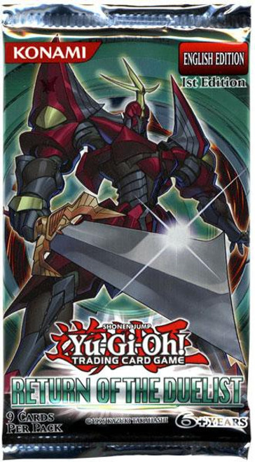 YuGiOh Trading Card Game Return of the Duelist Booster Pack [9 Cards]