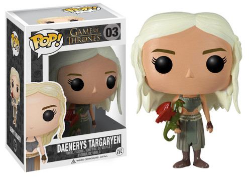 Funko Game of Thrones POP! TV Daenerys Targaryen Vinyl Figure #03 [Green Dragon]