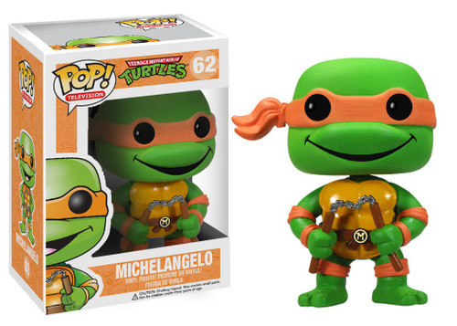 Funko Teenage Mutant Ninja Turtles POP! TV Michelangelo Vinyl Figure #62