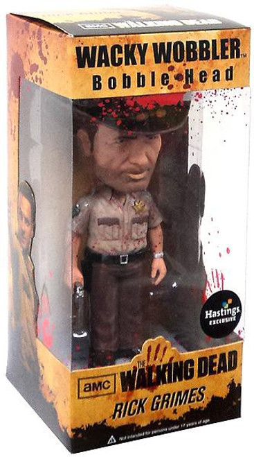 Funko The Walking Dead Wacky Wobbler Rick Grimes Exclusive Bobble Head [Bloody]