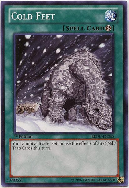YuGiOh Trading Card Game Return of the Duelist Common Cold Feet REDU-EN065