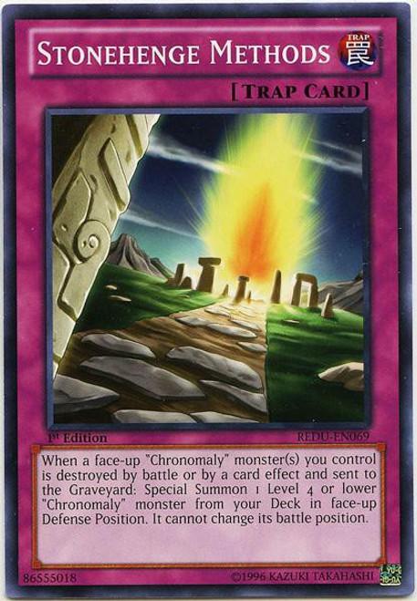 YuGiOh Trading Card Game Return of the Duelist Common Stonehenge Methods REDU-EN069