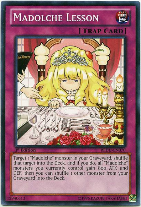 YuGiOh Trading Card Game Return of the Duelist Common Madolche Lesson REDU-EN070