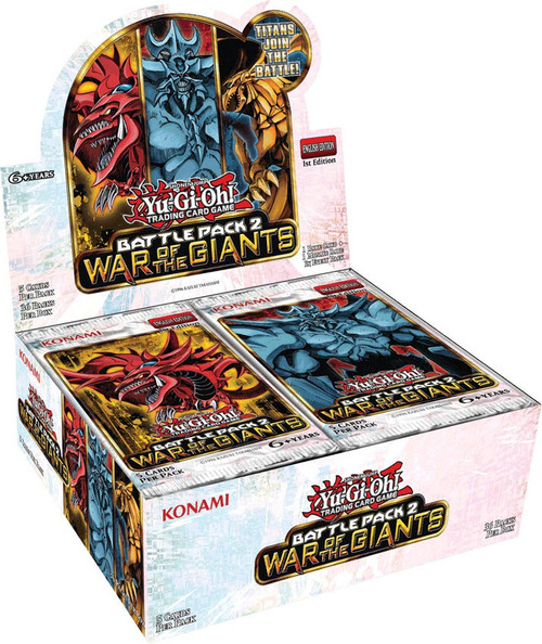 YuGiOh Trading Card Game Battle Pack 2 War of the Giants (1st Edition) Booster Box [36 Packs]