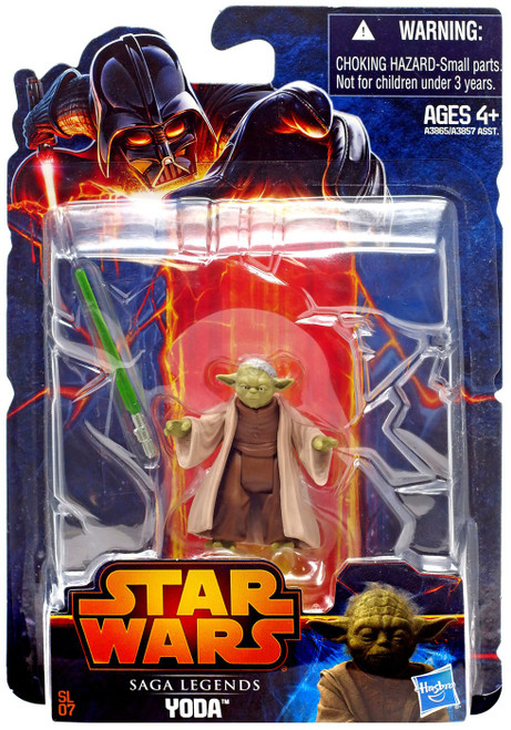 Star Wars Attack of the Clones Saga Legends 2013 Yoda Action Figure SL07