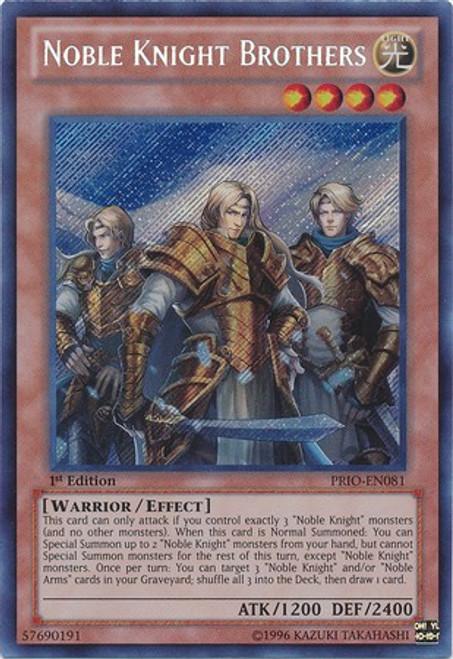YuGiOh Trading Card Game Primal Origin Secret Rare Noble Knight Brothers PRIO-EN081