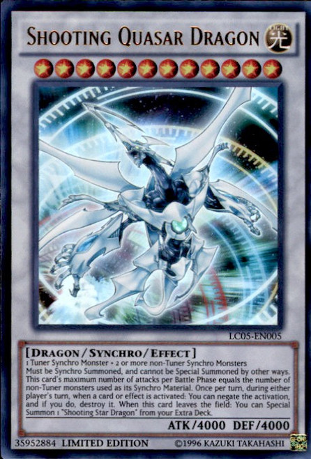 YuGiOh 5D's Legendary Collection 5 Ultra Rare Shooting Quasar Dragon LC05-EN005