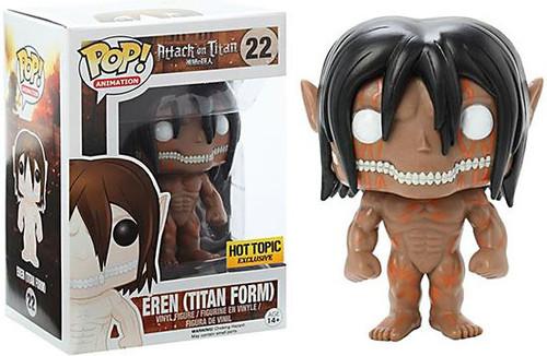 Funko Attack on Titan POP! Animation Eren (Titan Form) Exclusive Vinyl Figure #22 [Raged Version]