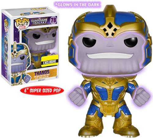 Funko Guardians of the Galaxy POP! Marvel Thanos Exclusive 6-Inch Vinyl Bobble Head #78 [Super-Sized, Glow in the Dark]