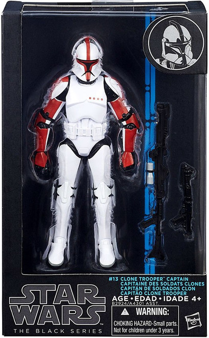 Star Wars Attack of the Clones Black Series Wave 8 Clone Trooper Captain Action Figure