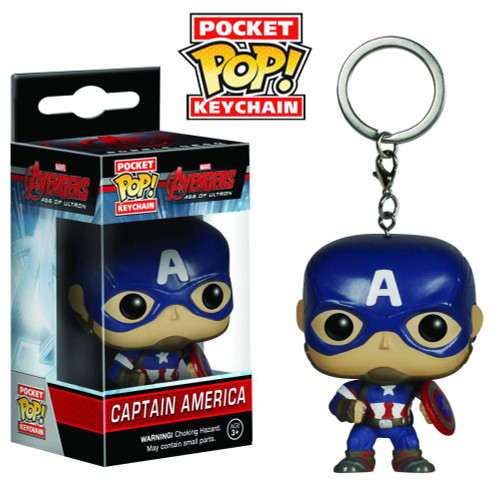 Funko Avengers Age of Ultron POP! Marvel Captain America Keychain
