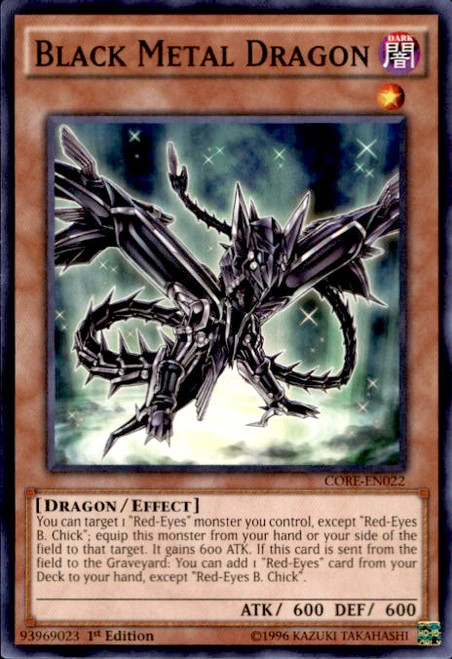 YuGiOh Clash of Rebellions Common Black Metal Dragon CORE-EN022