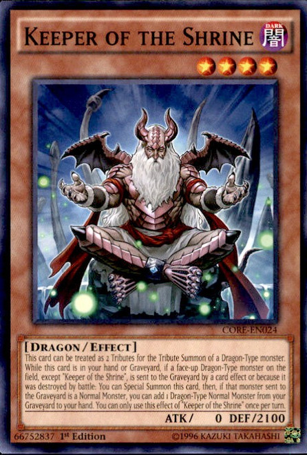 YuGiOh Clash of Rebellions Common Keeper of the Shrine CORE-EN024
