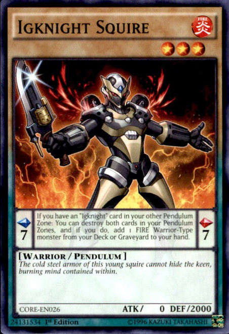 YuGiOh Clash of Rebellions Common Igknight Squire CORE-EN026