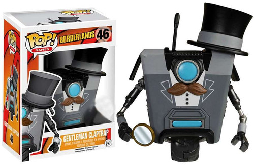 Funko Borderlands POP! Games Gentleman Claptrap Exclusive Vinyl Figure #46