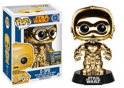 Funko POP! Star Wars C-3PO Exclusive Vinyl Bobble Head #13 [Chrome Gold]