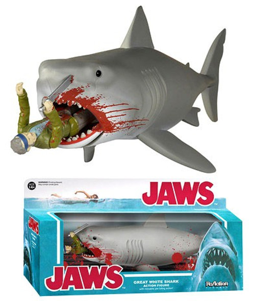 Funko Jaws ReAction Great White Shark {Final Battle} Exclusive Action Figure [Bloody Quint]