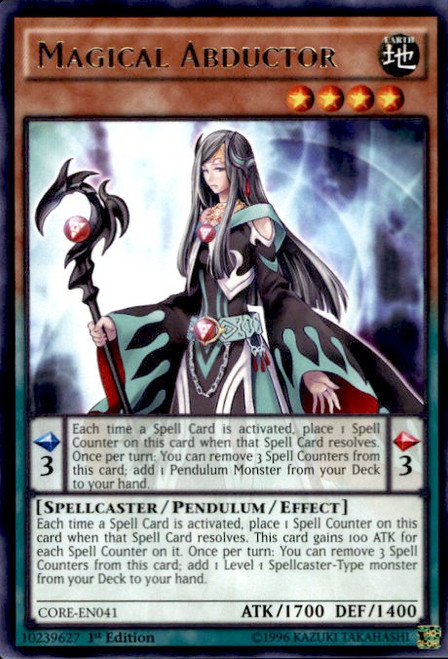 YuGiOh Clash of Rebellions Rare Magical Abductor CORE-EN041