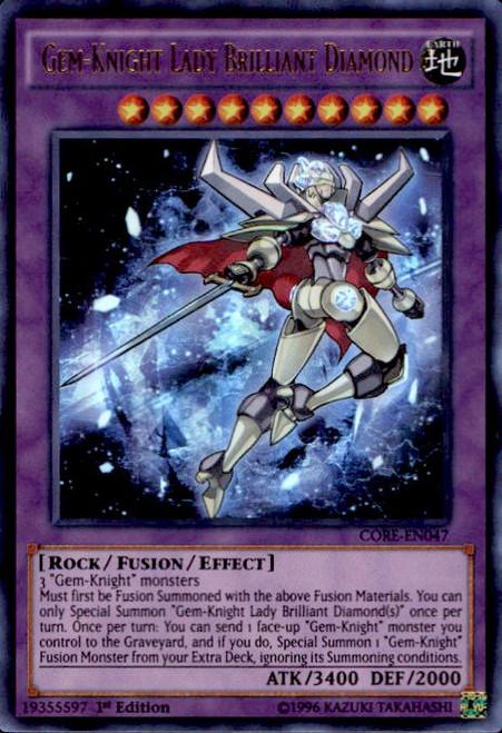 YuGiOh Clash of Rebellions Ultra Rare Gem-Knight Lady Brilliant Diamond CORE-EN047