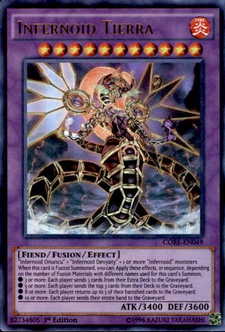 YuGiOh Clash of Rebellions Ultra Rare Infernoid Tierra CORE-EN049