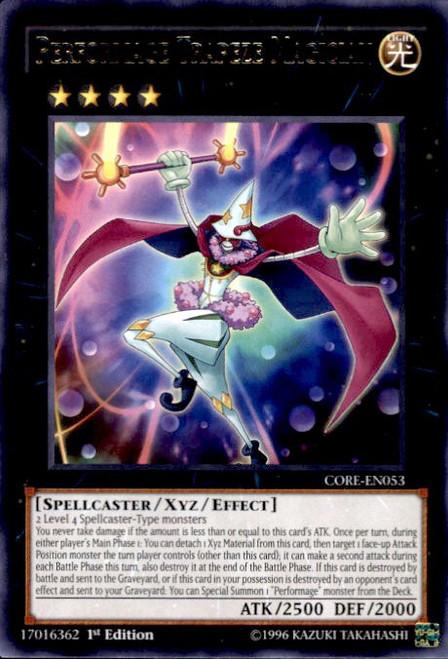 YuGiOh Clash of Rebellions Rare Performage Trapeze Magician CORE-EN053