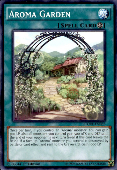 YuGiOh Clash of Rebellions Common Aroma Garden CORE-EN062
