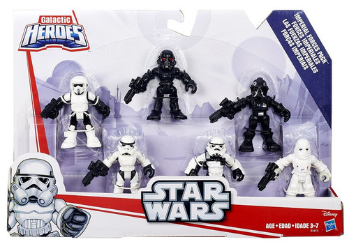 Star Wars Galactic Heroes Imperial Forces Pack Mini Figure 6-Pack Set