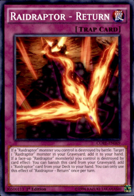 YuGiOh Clash of Rebellions Common Raidraptor - Return CORE-EN069